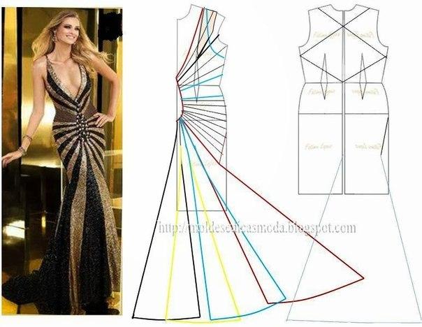 платье выкройка39 (604x468, 190Kb)