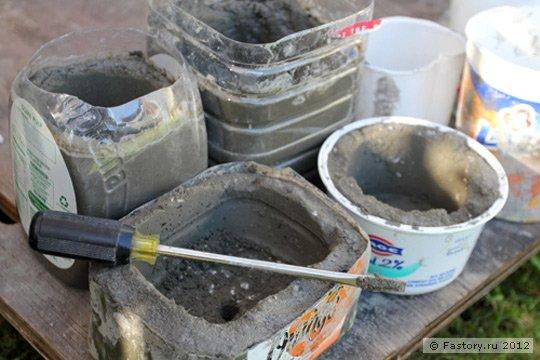 Как сделать своими руками вазу из цемента для сада