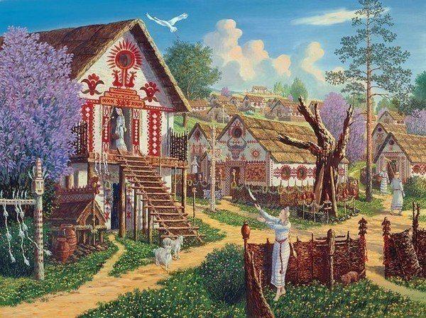 славянский дом (600x449, 107Kb)
