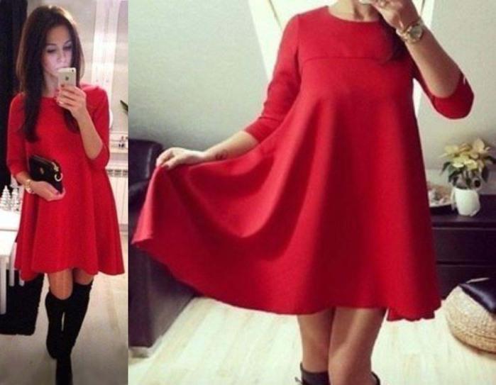 Формула короткого прямого платья