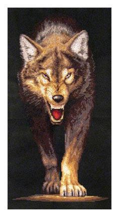 Волчица вышивка схема