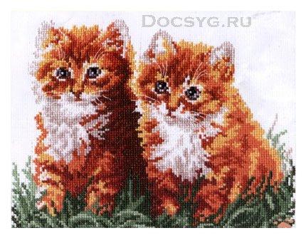 схема вышивки рыжие друзья (430x334, 161Kb)