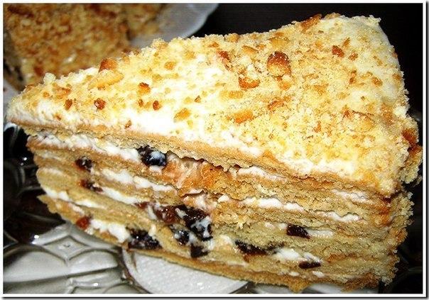 Торт медовый с черносливом. (604x423, 83Kb)