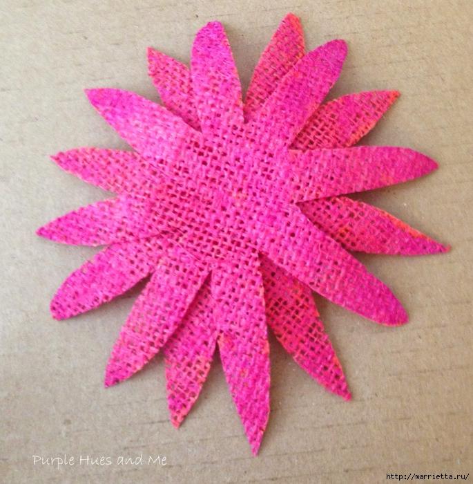 Цветы из мешковины - Эхинацея Пурпурная. Мастер-класс (15) (685x700, 401Kb)