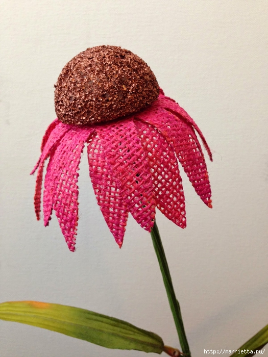 Цветы из мешковины - Эхинацея Пурпурная. Мастер-класс (22) (525x700, 259Kb)