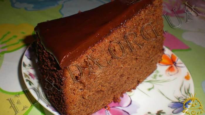 Шоколадный пирог без шоколада
