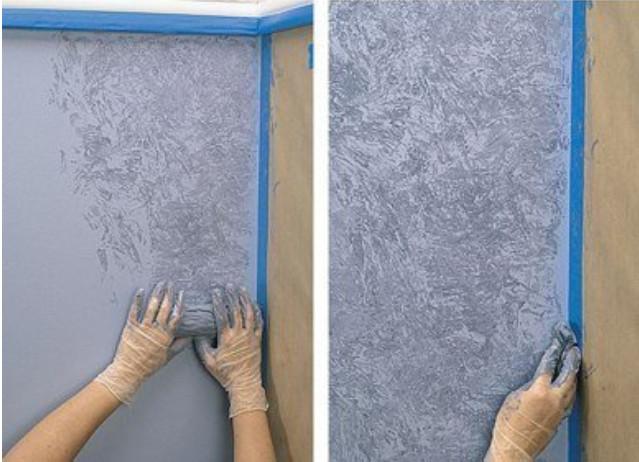 Декоративная штукатурка стен под покраску своими руками 5