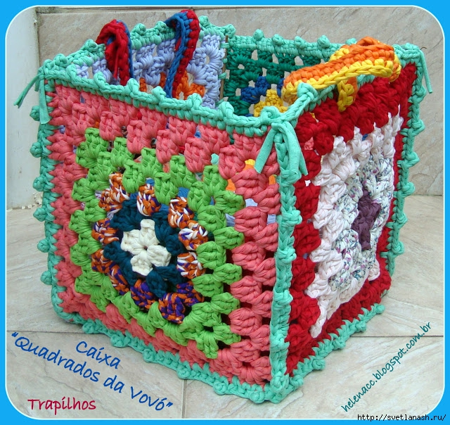 вязание коробок из трикотажной пряжи