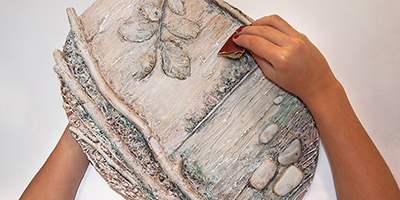 Панно из природных материалов ЛЕСНОЕ ОЗЕРО (12) (400x200, 111Kb)