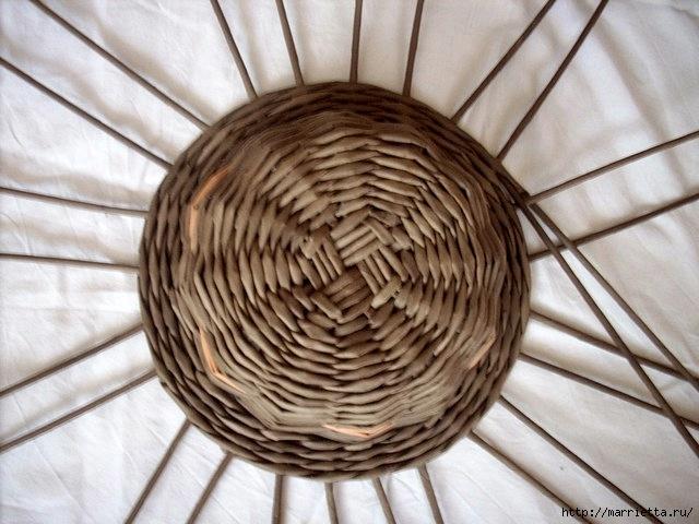 ШЛЯПКИ. Плетение из газетных трубочек (8) (640x480, 184Kb)