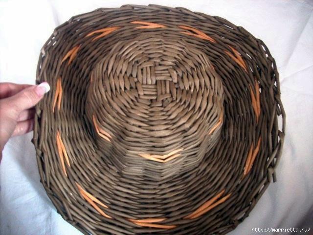 ШЛЯПКИ. Плетение из газетных трубочек (16) (640x480, 187Kb)