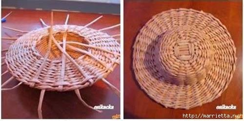 ШЛЯПКИ. Плетение из газетных трубочек (27) (500x248, 87Kb)