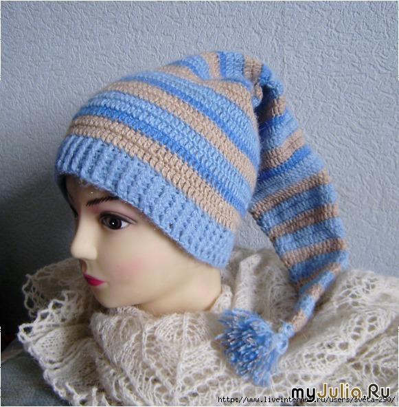 шапка буратинка крючком