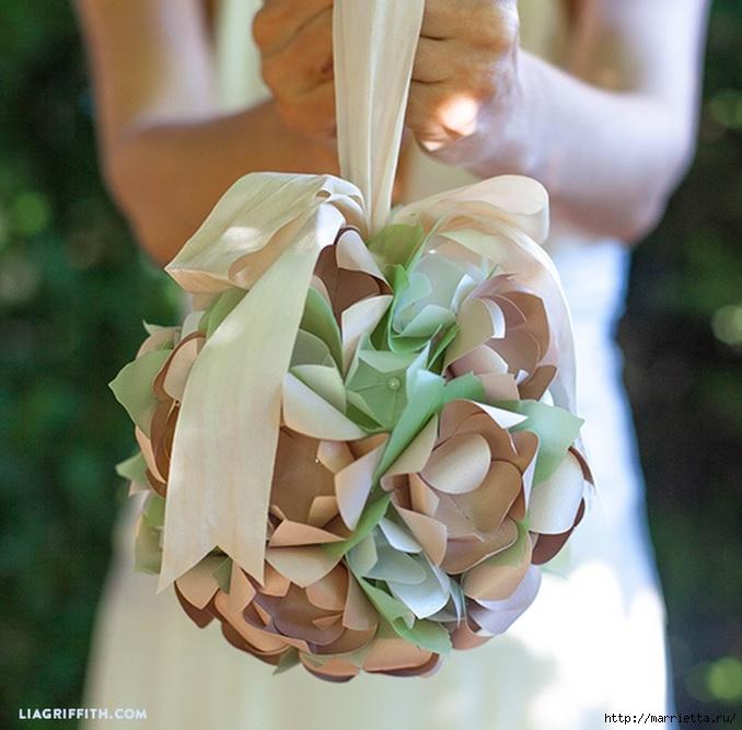 Цветочные шары из бумаги к свадебному торжеству (1) (678x667, 219Kb)