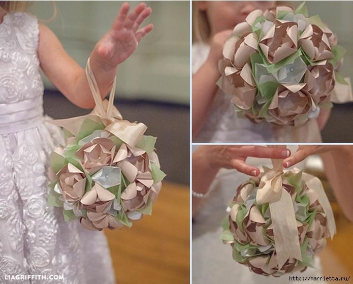 Цветочные шары из бумаги к свадебному торжеству (2) (695x559, 205Kb)