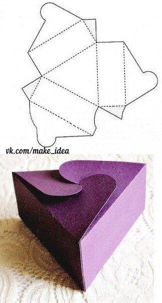 Коробочка из бумаги своими руками для подарка