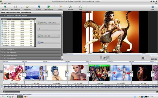 PhotoStage Slideshow— Бесплатная программа для создания слайдшоу из фотографий