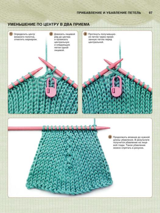 Убавления при вязания реглан 258