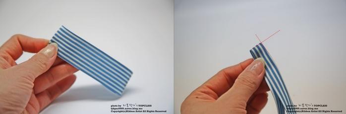 Аксессуары к школе - бантик-бабочка из ленточек (7) (700x231, 167Kb)