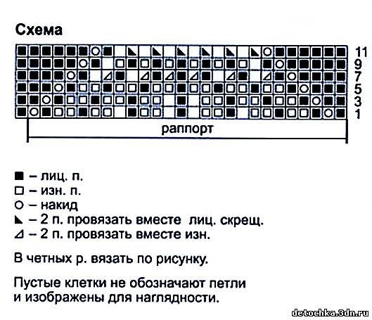 Схема узора Павлиний хвост (529x455, 193Kb)