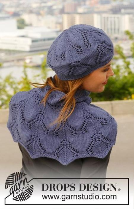 针织:贝雷帽和脖套领 - maomao - 我随心动