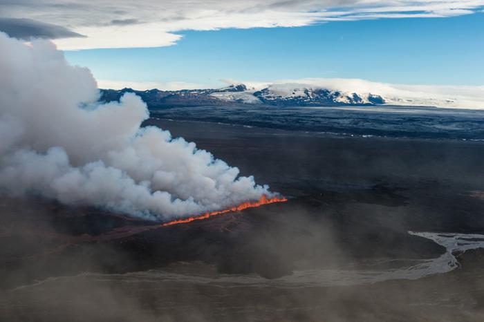 Извержение Бардаибунга вулкана в Исландии
