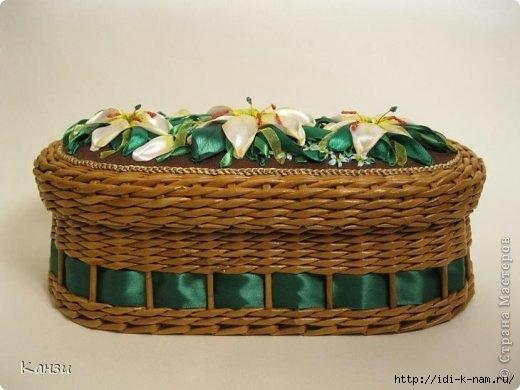 как сделать вышивку на поделках из газетных трубочек, как сделать овальную крышку для корзинки из газет, мастер класс по плетению овальной крышки из газет,  Хьюго Пьюго рукоделие. http://idi-k-nam.ru/,