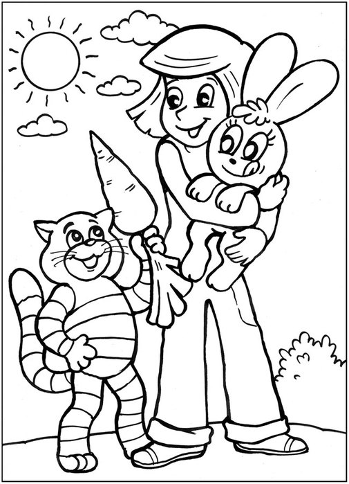 Раскраски для детей по мультфильмам распечатать бесплатно