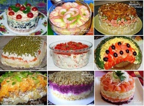 Топ рецепты салатов