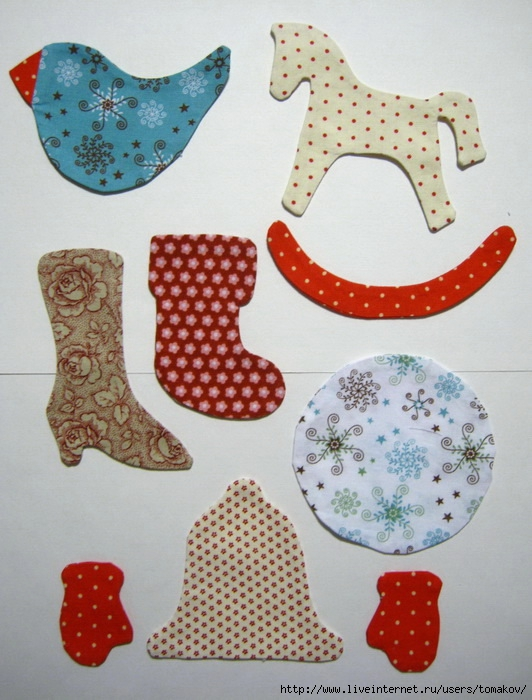 Несложные игрушки из ткани