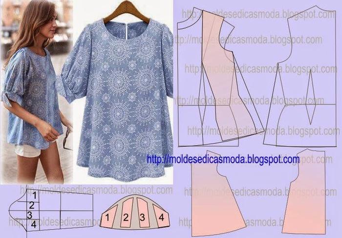 Расклешенная блузка