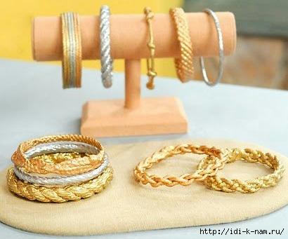 как сделать бижутерию своими руками, какую бижутерия можно сделать своими руками, как просто сделать браслет своими руками, что можно сделать из веревки, бижутерия из веревки, что можно сделать из шнура, как сделать металлический браслет, Хьюго Пьюго рукоделие,