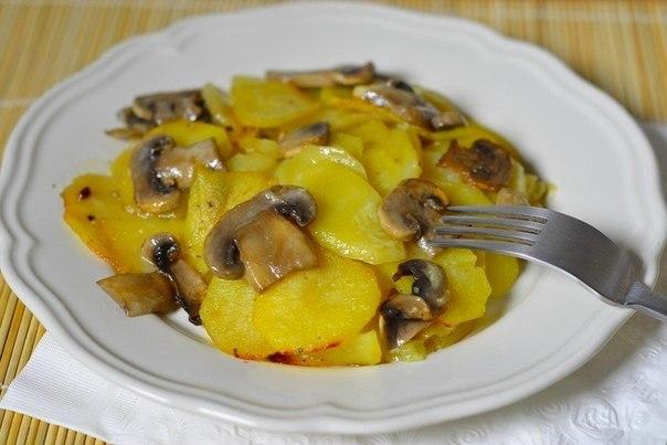 Картошка с грибами в сливках (604x403, 45Kb)