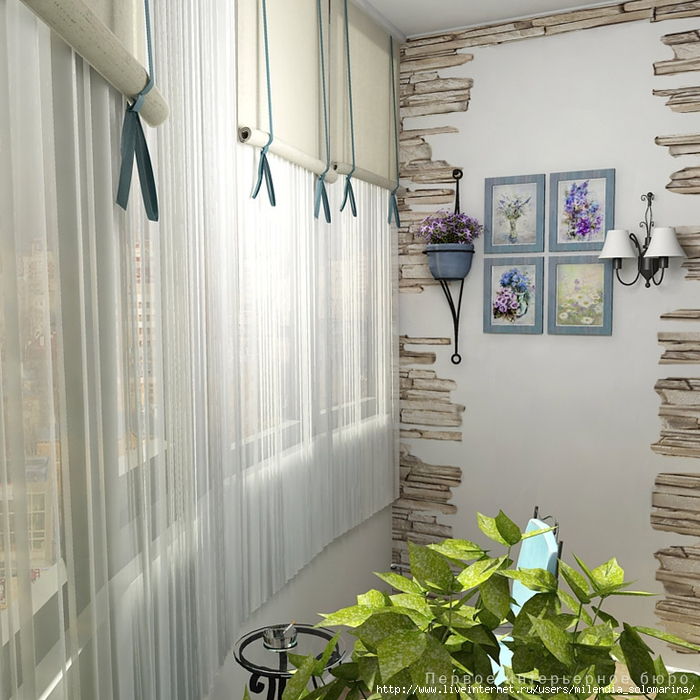 Декор лоджии / интерьер / идеи обустройства балкона/лоджии /.