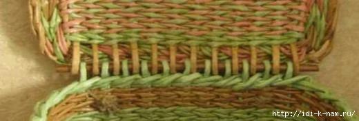 как прикрепить плетеную крышку к коробу, плетение короба и крышки из газетных трубочек, Хьюго Пьюго рукоделие,