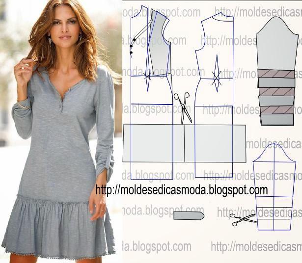 Модное платье с выкройкой и