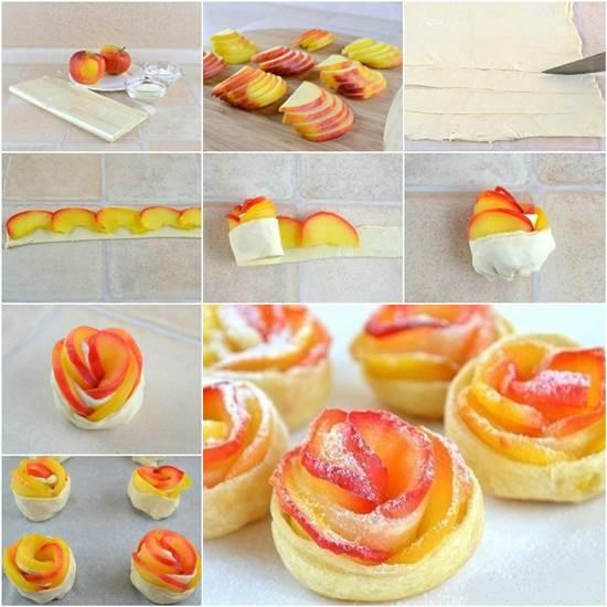 Как сделать розы их яблоками 9