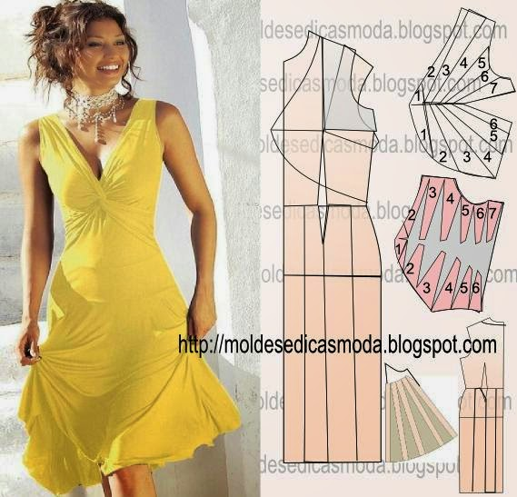 Выкройка платья с узлом на талии