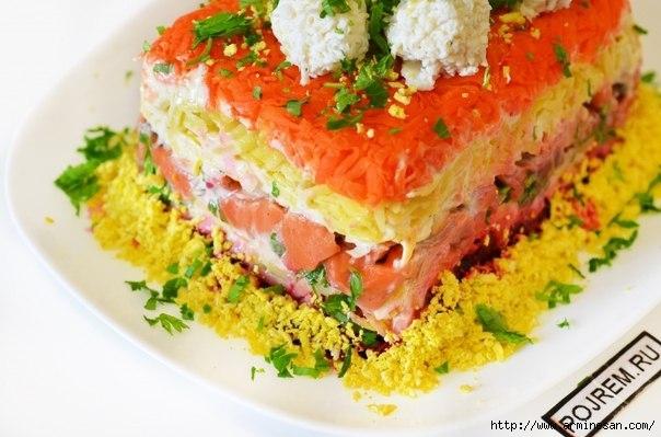 Салат с красной рыбой рецепт с очень вкусный к новому