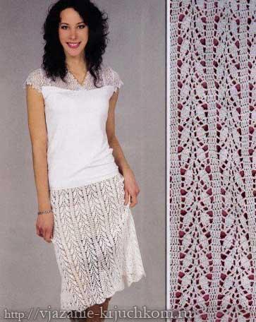 Ажурная юбка, связанная