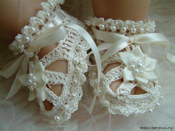 Пинетки-сандалики связанные