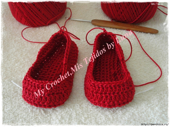 My Crochet,Mis Tejidos by Luna-8-10-14 Red Baby booties 001 (700x525, 311Kb)