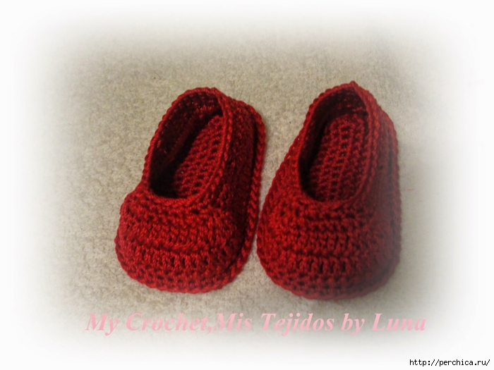 My Crochet,Mis Tejidos by Luna-8-10-14 Red Baby booties 005 (700x525, 205Kb)