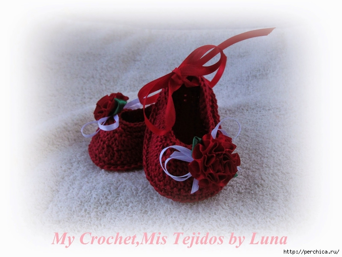 My Crochet,Mis Tejidos by Luna-8-10-14 Red Baby booties 021 (700x525, 214Kb)
