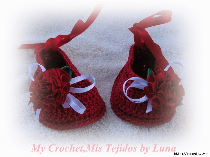 My Crochet,Mis Tejidos by Luna-8-10-14 Red Baby booties 023 (700x525, 218Kb)