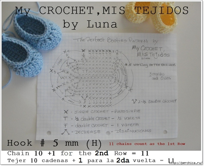 The perfect Baby booties Pattern by Luna-4-14-2013 002 (700x571, 265Kb)