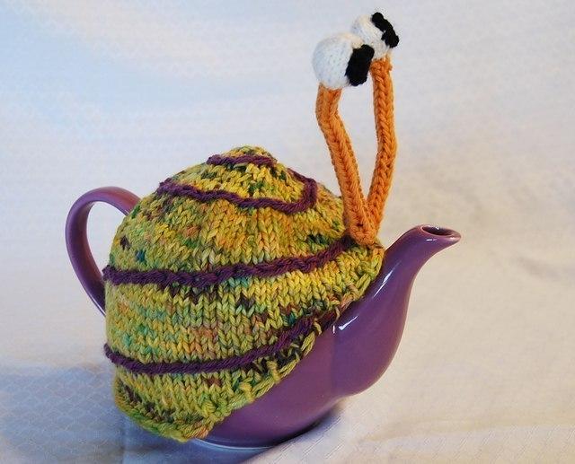 Грелка на чайник улитка своими руками 40