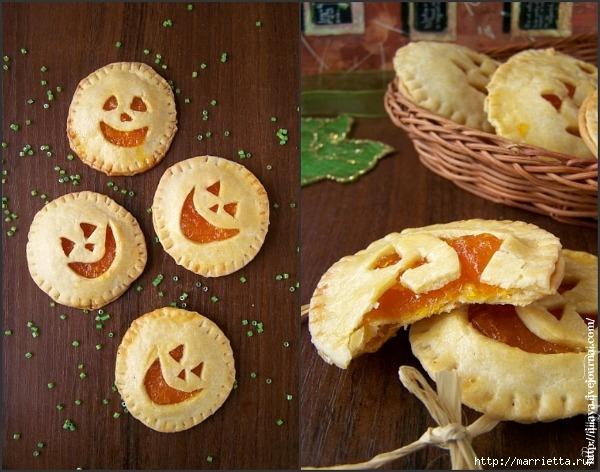 Тыквенный джем и печенье к Хэллоуину (2) (600x472, 211Kb)