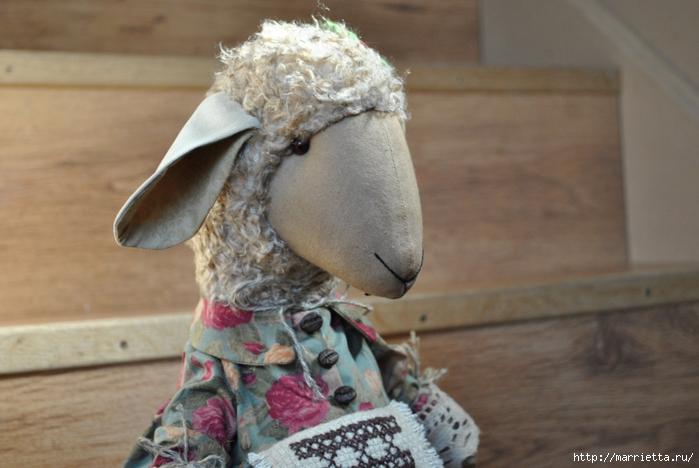 текстильные овцы, ежик, коза и медведи (34) (700x468, 223Kb)
