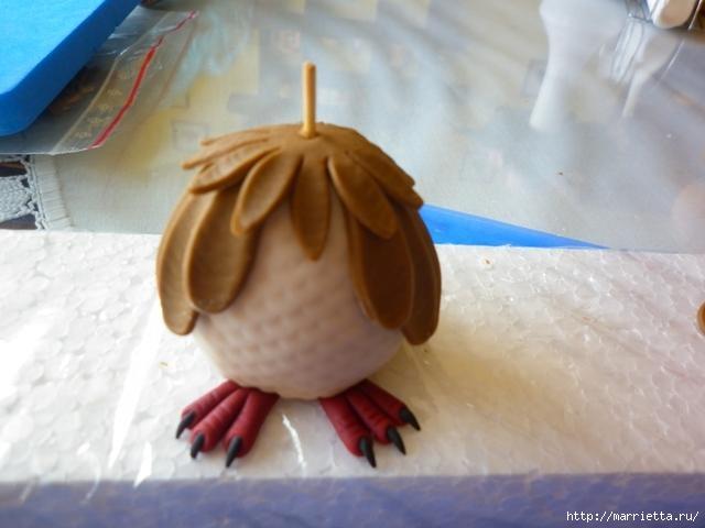 УЧЕНАЯ СОВА из марципана для детского торта. Фото мастер-класс (5) (640x480, 112Kb)